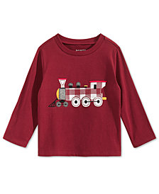 First Impressions Toddler Boys Train-Print T-Shirt, Created for Macy's