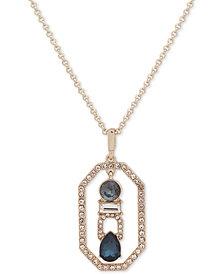 "Ivanka Trump Gold-Tone Crystal Adjustable 42"" Pendant Necklace"