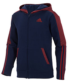 adidas Big Boys Hybrid Front-Zip Jacket