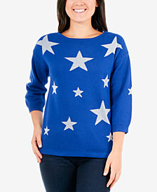 NY Collection Star Sweater