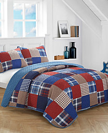 Plaid Patchwork Quilt Set