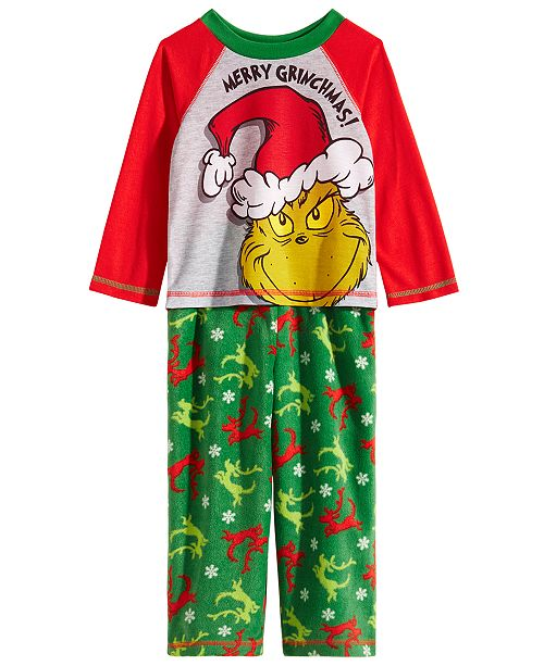 d58a11fe5c64 Dr. Seuss Toddler Boys 2-Pc. The Grinch Pajamas Set   Reviews ...