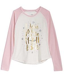 Max & Olivia Big Girls Moon-Print Pajama T-Shirt, Created for Macy's