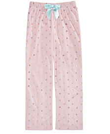 Max & Olivia Big Girls Dot-Print Pajama Pants, Created for Macy's