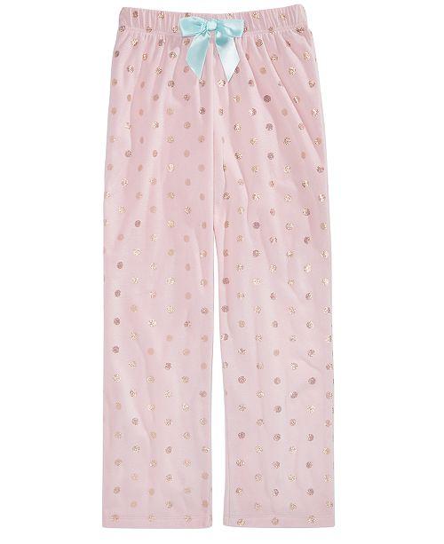 00d490f6db5ce Max & Olivia Big Girls Dot-Print Pajama Pants, Created for Macy's ...