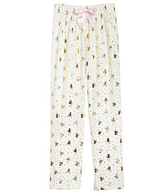 Max & Olivia Big Girls Gold-Foil Print Pajama Pants, Created for Macy's