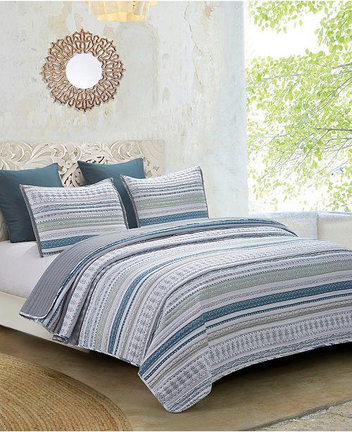Hedaya Home Primitive 3-Piece Twin Quilt Set