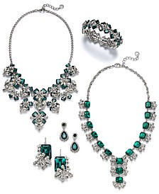 Charter Club Silver-Tone Crystal & Stone Jewelry Separates, Created for Macy's