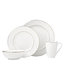 Continental Dining Gold 4 Piece Place Setting