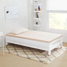 "Sleep Studio CopperFresh Twin 2"" DORM Gel Memory Foam Mattress Topper"