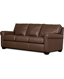 "Savoy II 83"" Leather Sofa"