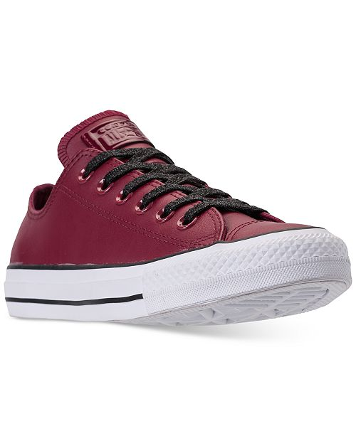 ... Converse Women s Chuck Taylor All Star Leather Ox Casual Sneakers from  Finish ... ca4611f24