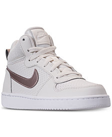 Nike Girls' Court Borough Mid Casual Sneakers from Finish Line