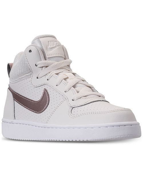 ab48de7857c Nike Girls  Court Borough Mid Casual Sneakers from Finish Line ...