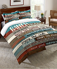Laural Home Southwest Ranch Rules King Comforter