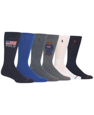 Men's 6-Pk. Polo Bear Signature Socks