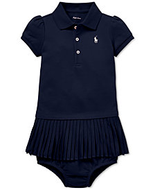 Polo Ralph Lauren Baby Girls Pleated Polo Dress