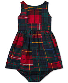 Polo Ralph Lauren Baby Girls Tartan Patchwork Cotton Dress