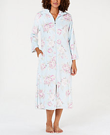 Miss Elaine Printed Brushed Fleece Zip Robe