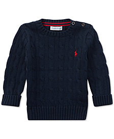 Polo Ralph Lauren Baby Boys Cable-Knit Cotton Sweater