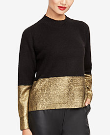 RACHEL Rachel Roy Metallic-Trim Sweater, Created for Macy's