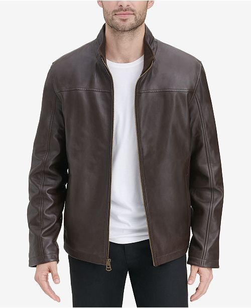 a9a941b38 Men's Smooth Leather Jacket, Created for Macy's