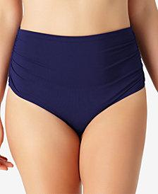 Anne Cole Plus Size Live In Color High-Waist Swim Bottoms