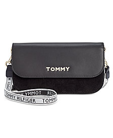 Tommy Hilfiger Boxed Corporate Highlight Leather & Suede Crossbody Wallet