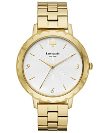 kate spade new york Women's Metro Scallop Gold-Tone Stainless Steel Bracelet Watch 38mm