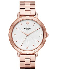 kate spade new york Women's Morningside Pink Gold-Tone Stainless Steel Bracelet Watch 38mm