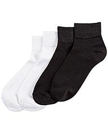 HUE® 4-Pk. Super-Soft Cropped Socks
