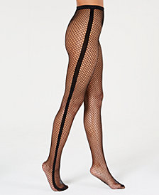 I.N.C. Tuxedo Fishnet Tights, Created for Macy's