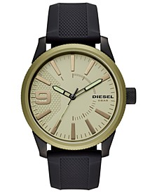 Men's Rasp NSBB Black Silicone Strap Watch 46mm