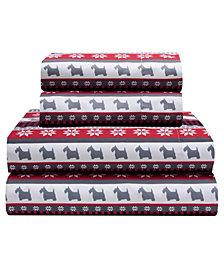 Dog Gone Good Twin 90 Gsm Sheet Set, Flat Sheet 66X96, Fitted Sheet 39X75X14, 21X31 1 Pc