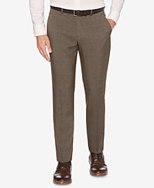 Perry Ellis Men's Portfolio Slim-Fit Stretch Plaid Dress Pants