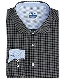 of London Men's Slim-Fit Performance Check Dress Shirt