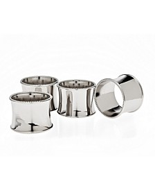 Round Beaded Napkin Rings, Set of 4
