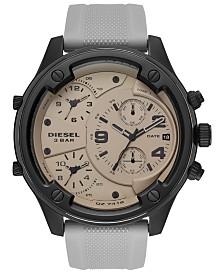Diesel Men's Chronograph Boltdown Gray Silicone Strap Watch 56mm
