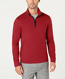 Tasso Elba Men's Piped 1/4-Zip Sweater, Created for Macy's