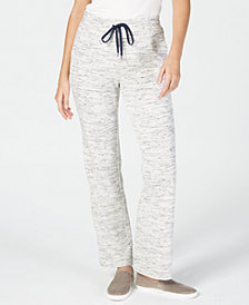 Charter Club Petite Space-Dyed Pull-On Pants, Created for Macy's