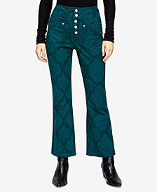Free People Liv Printed Cropped Flared Jeans