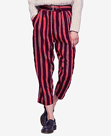 Free People Seemed Like Striped Cropped Pants