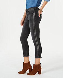 Style & Co Petite Double-Stripe Skinny Jeans, Created for Macy's