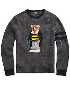Polo Ralph Lauren Men's Big & Tall Polo Bear Knit Sweater