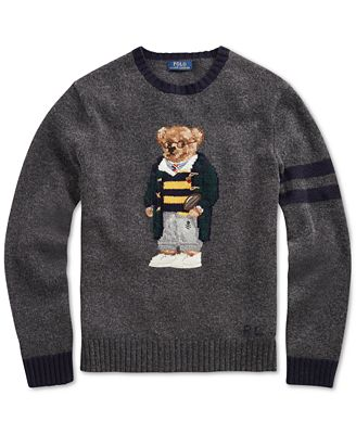 Polo Ralph Lauren Mens Big Tall Polo Bear Knit Sweater Sweaters