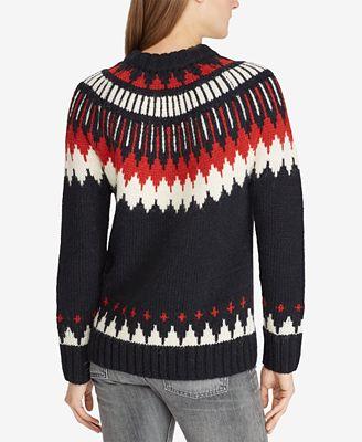 Polo Ralph Lauren Geometric Sweater Sweaters Women Macys