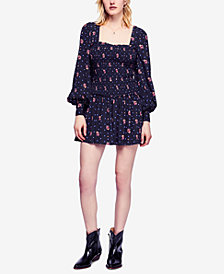 Free People Two Faces Printed Mini Dress