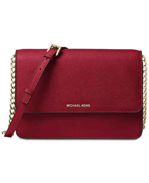 15f7b282f1d8 Michael Kors Gusset Saffiano Leather Crossbody - Handbags ...