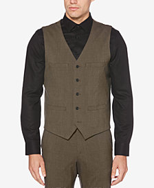 Perry Ellis Men's Slim-Fit Stretch Plaid Vest