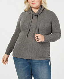 Planet Gold Trendy Plus Size Cowl-Neck Top